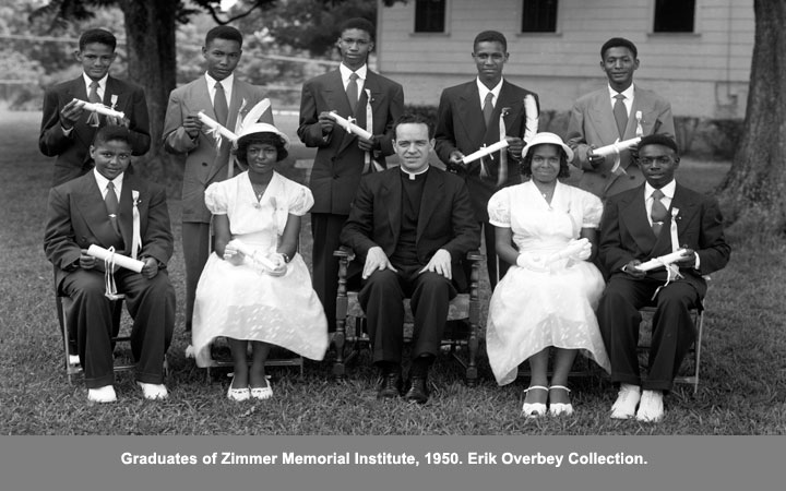 Graduates of Zimmer Memorial Institute, 1950.
