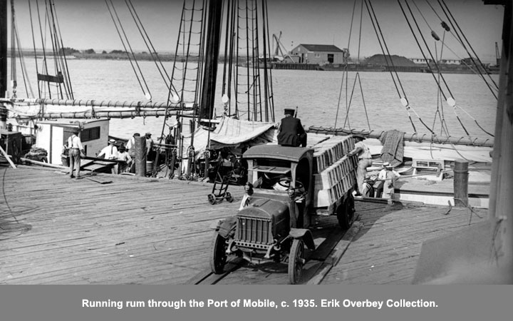 Running rum through the Port of Mobile, c. 1935.