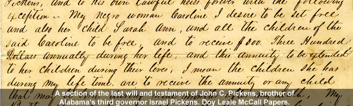 testament of John C. Pickens