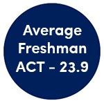 Average Freshman ACT - 23.9