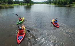 Students kayaking