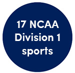 17 NCAA Division 1 sports teams