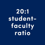 20:1 student-faculty ratio