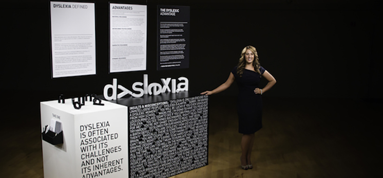 photo of booth display for dyslexia