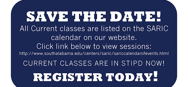 graphic for SARIC summer 2016 classes