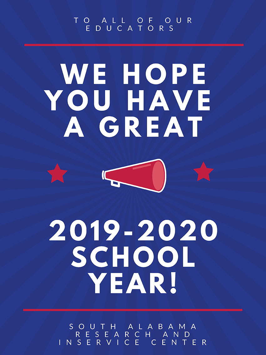 We hope you have a great 2019-2020 school year