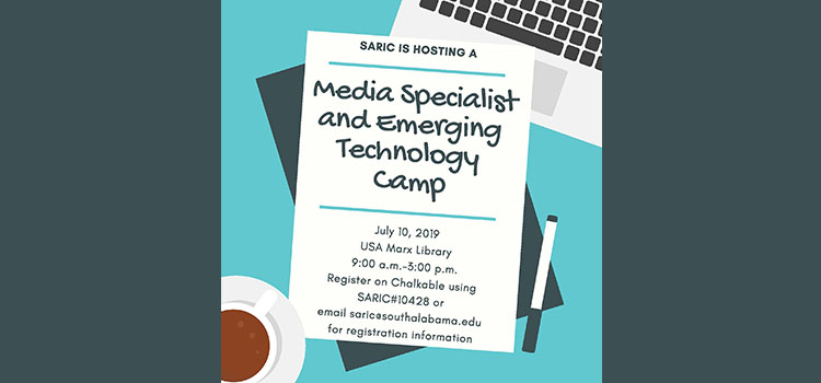 Media Specialist and Emerging Technology Camp Flyer