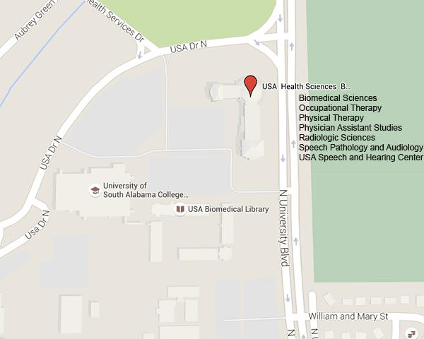 University Of South Alabama Campus Map