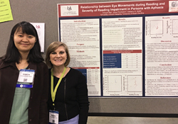 Dongyin Mei (left) is pictured with Dr. Kimberly Smith