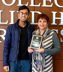 Dr. Ishara Ramkissoon (right) is pictured with Mayank Patel