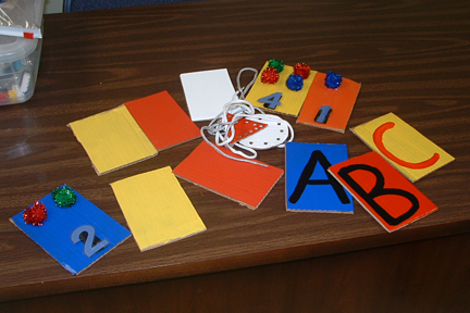 Color, Number and Alphabet Cards