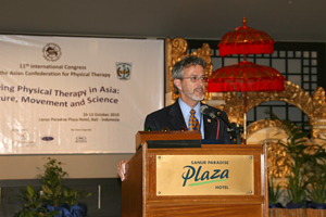 Dr. Fell speaks at Asia Confederation for Physical Therapy (ACPT) Conference in Bali, Indonesia