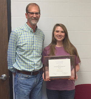 Meghan Dean, Winner of the 2017 Rawls Award for Outstanding Biology Senior
