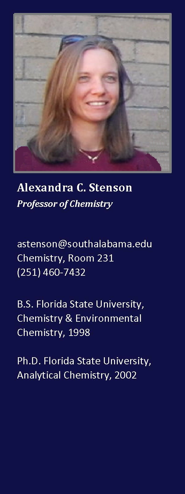 Alexandra Stenson, Ph.D. - Profile Box
