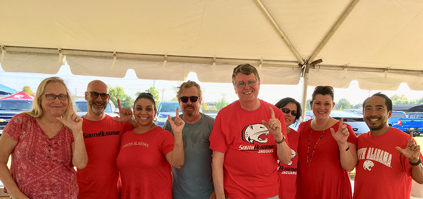 Communication Department at Football Tailgate