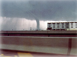 Waterspout over Mobile Bay