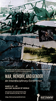 War, Memory, and Gender Conference Poster