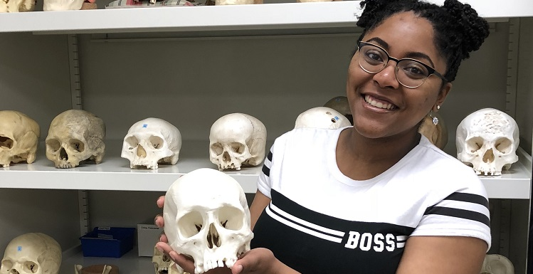 Antonio Carter, an anthropology major, has been selected as an IDEAS scholar by the American Association of Physical Anthropologists.