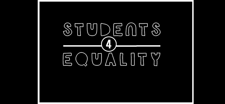 Students 4 Equality written over a black background. data-lightbox='featured'