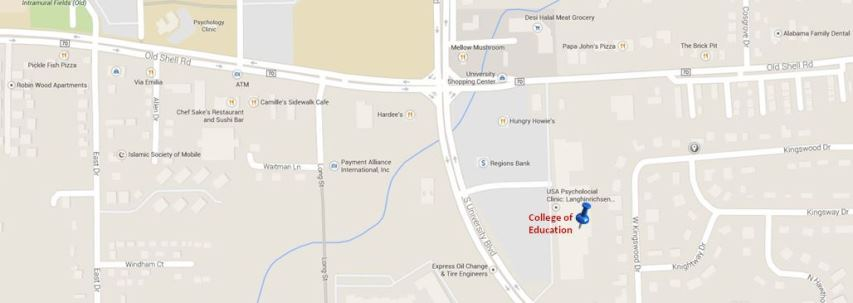 Map to show college of education