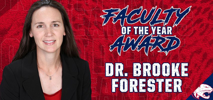 Dr. Brooke Forester wins faculty of the year award