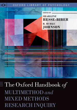 Dr. Burke Johnson Oxford Handbook on Mixed methods Research