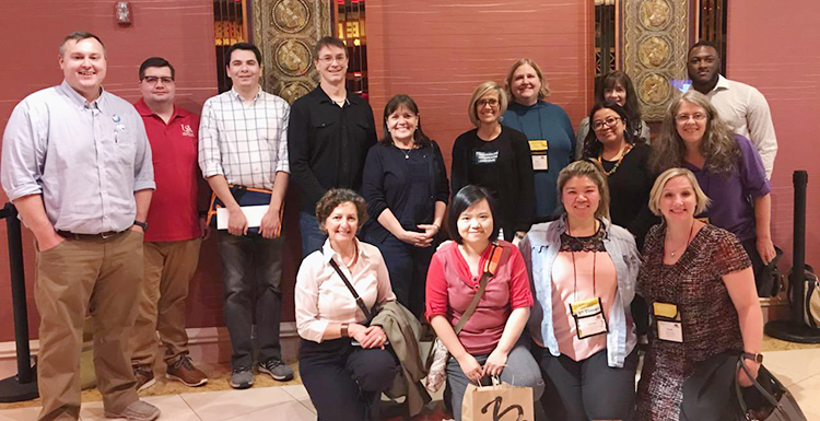 Instructional Design and Development Faculty, Staff, and Students attend AECT International Convention