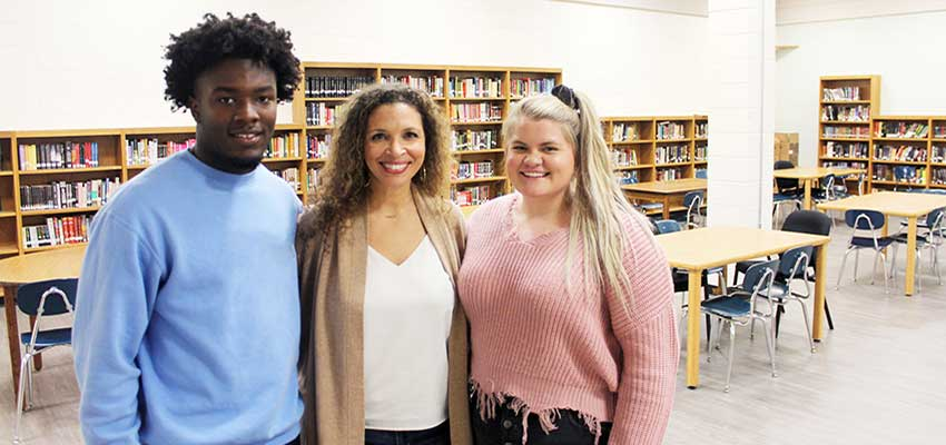 "Cammie Adams' passion for helping students outside the classroom drew her from being a physical education teacher to serving as a high school counselor. ""It wasn't long into my first year of teaching that I became aware of the hardships some of my students were experiencing,"" said Adams, who was a first generation college student."
