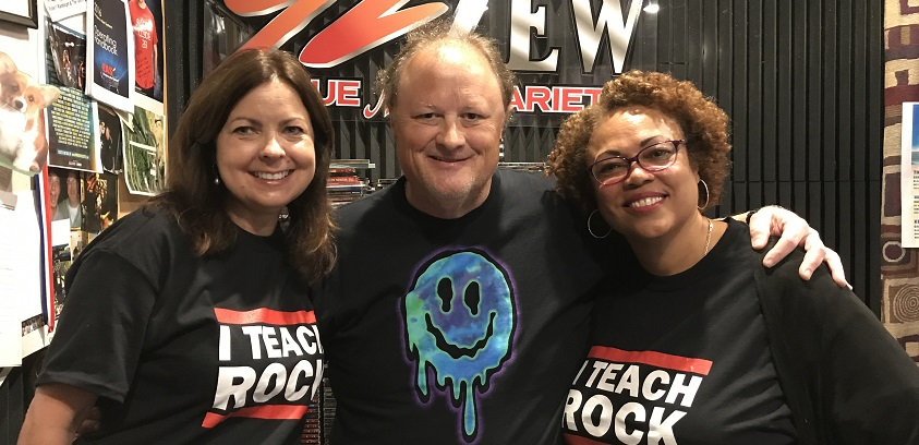 "USA CEPS faculty discuss Steven Van Zandt's concert and ""TEACH ROCK"" professional development event with 92ZEW's Gene Murrell."