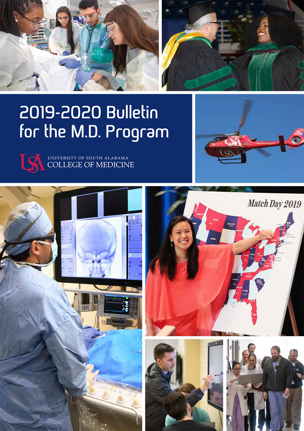 Cover of the 2019-2020 Bulletin for the M.D. Program