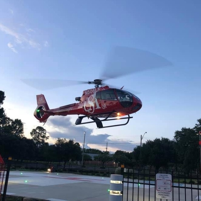 Southflight landing at USA Health University Hospital