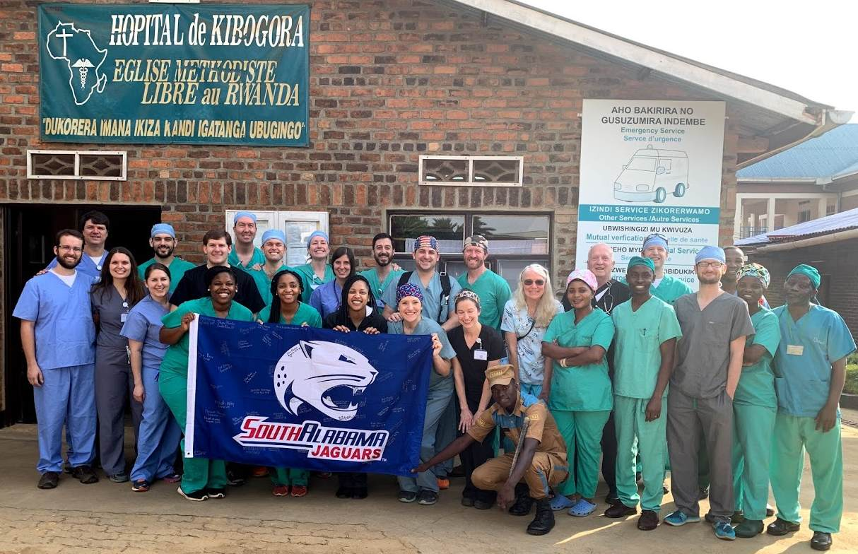 USA fourth-year medical students, residents and physicians participated in this year's CMMSA mission trips to Kibogora, Rwanda.