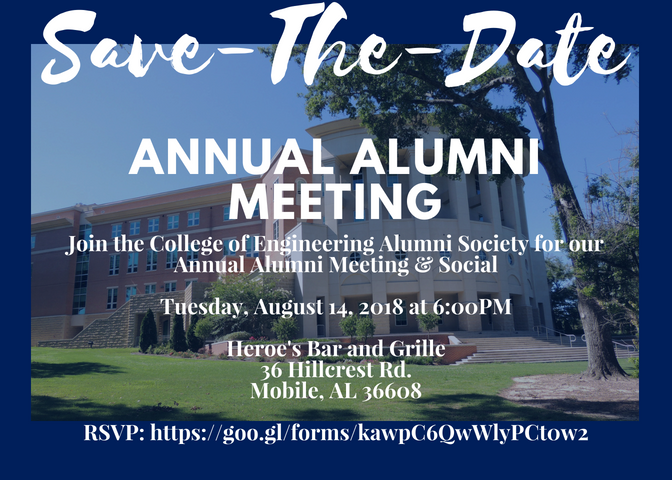 Save the Date for COE Alumni Society Meeting