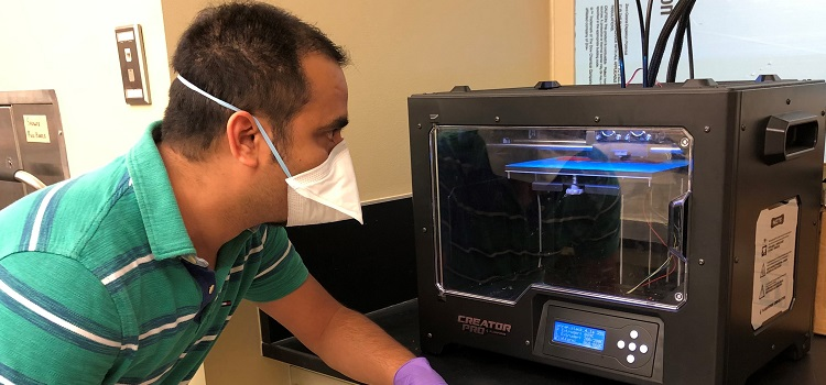 The University of South Alabama, College of Engineering has been printing 3D relief straps for healthcare professionals to use with their protective face masks during amid COVID-19.