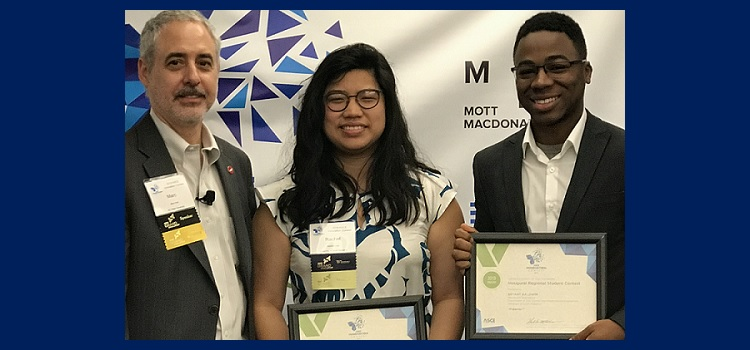 Two USA engineering students, Rachel Chai (Civil, Coastal, & Environmental Engineering) and Bryant Baldwin (Mechanical Engineering) teamed up to showcase some ongoing undergraduate research that looks to re-use water treatment plant by-products to effect nutrient recovery.