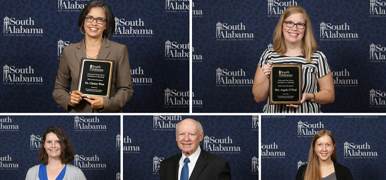 USA National Alumni Association Recognizes Outstanding Faculty, Young Alumnus