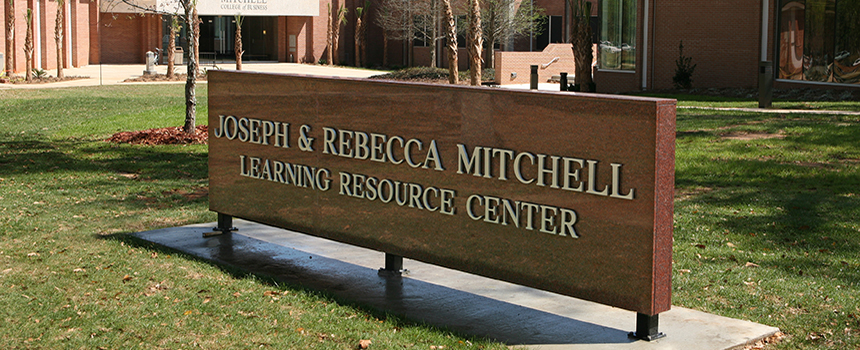 Mitchell Learning Resource Center sign