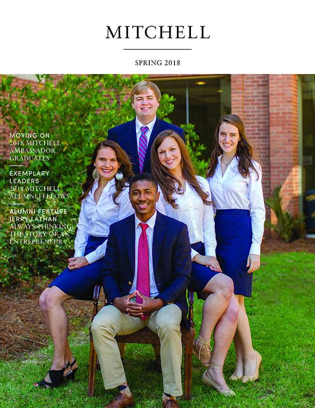 Spring 2018 Mitchell Magazine Cover with MCOB Scholars