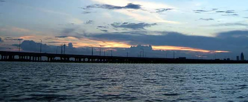 Picture of the Alabama Causeway at sunset