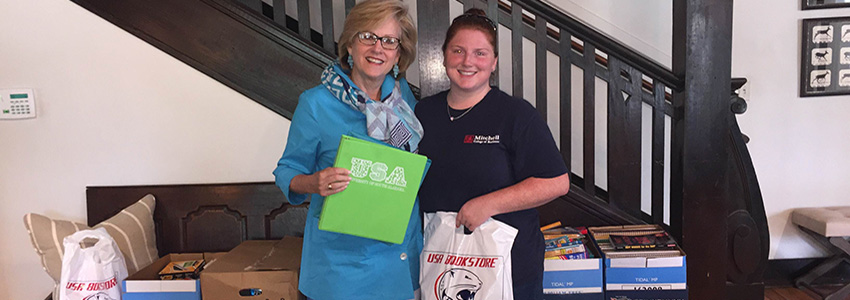 MCOB Students Generously Donate School Supplies to Wilmer Hall