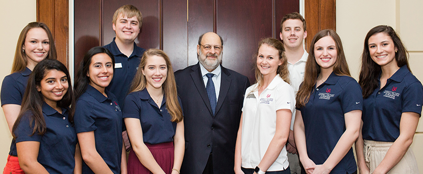 Mitchell Ambassadors were thrilled to meet Dr. Stuart Diamond during his visit to MCOB in February.