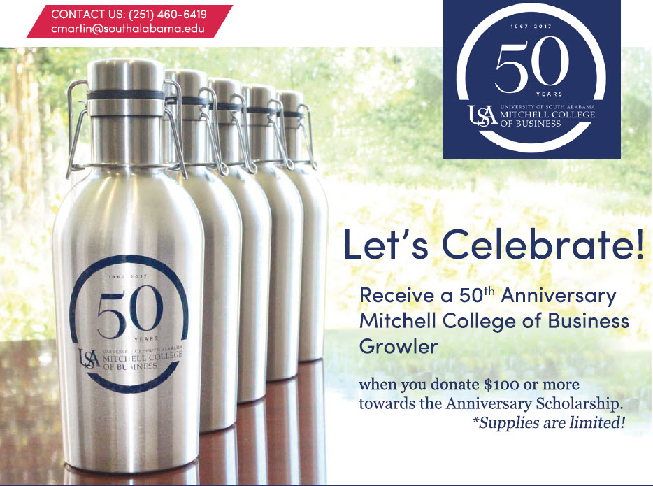 Receive a 50th Anniversary MCOB Growler