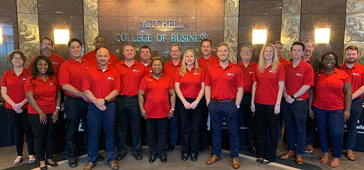 Over 20 Ingalls employees from seven different departments visited with Mitchell College of Business Students.