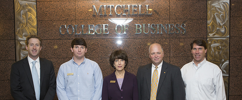 "To achieve the strategic goal of actively involving business and community professionals in our classes to enrich the learning experiences of our students, the Mitchell College of Business hosted the inaugural ""Professor for the Day"" program on March 24."