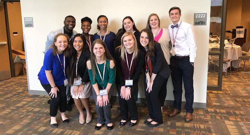 MCOB student organizations organizations, Beta Gamma Sigma, the Financial Management Association, and the Society for Human Resource Management receive awards