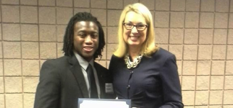 MCOB Student, Jamaal Rhodes, participated in the Mobile County Commission's Summer Internship Program