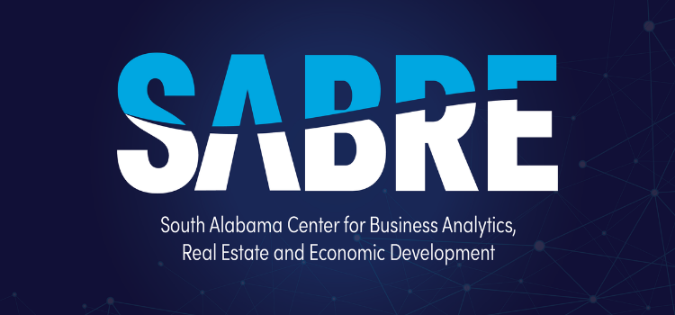 Keeping pace with its expanding function, the Center for Real Estate and Economic Development at the University of South Alabama is evolving and with that evolution comes a name change. The department within the Mitchell College of Business has been rebranded the South Alabama Center for Business Analytics, Real Estate, and Economic Development, or SABRE.