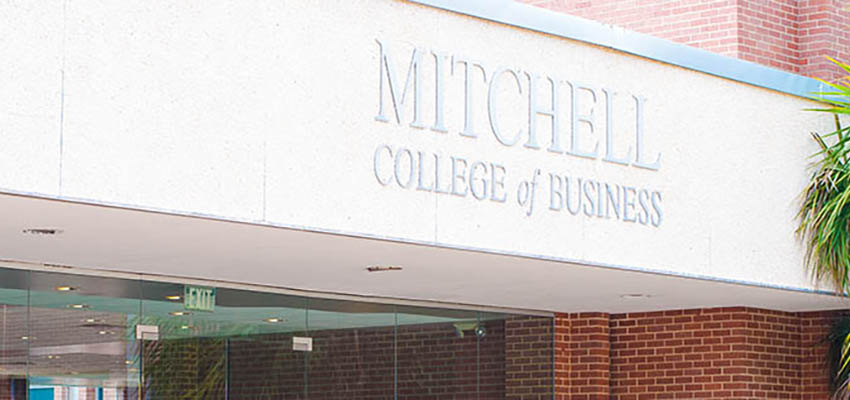 Mitchell College of Business front entrance