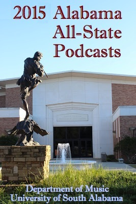 2015 Alabama All-State Podcasts Cover photo with the front of Laidlaw building and fountain