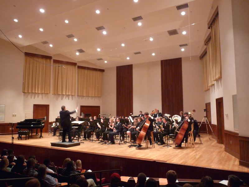 USA Wind Ensemble conducted by William H. Petersen on stage in Laidlaw